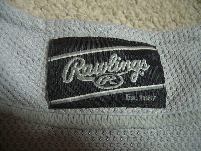 良品 中国製 ローリングス NEW FIELD/22 カージナルスカラー ベースボールユニフォーム 灰赤 O_画像7