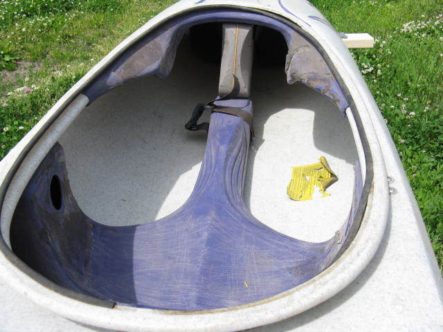 中古カヤック カヌー Perception PROLINE Pironette パドル スプレースカート付 北海道岩見沢市 引き取り限定_画像6