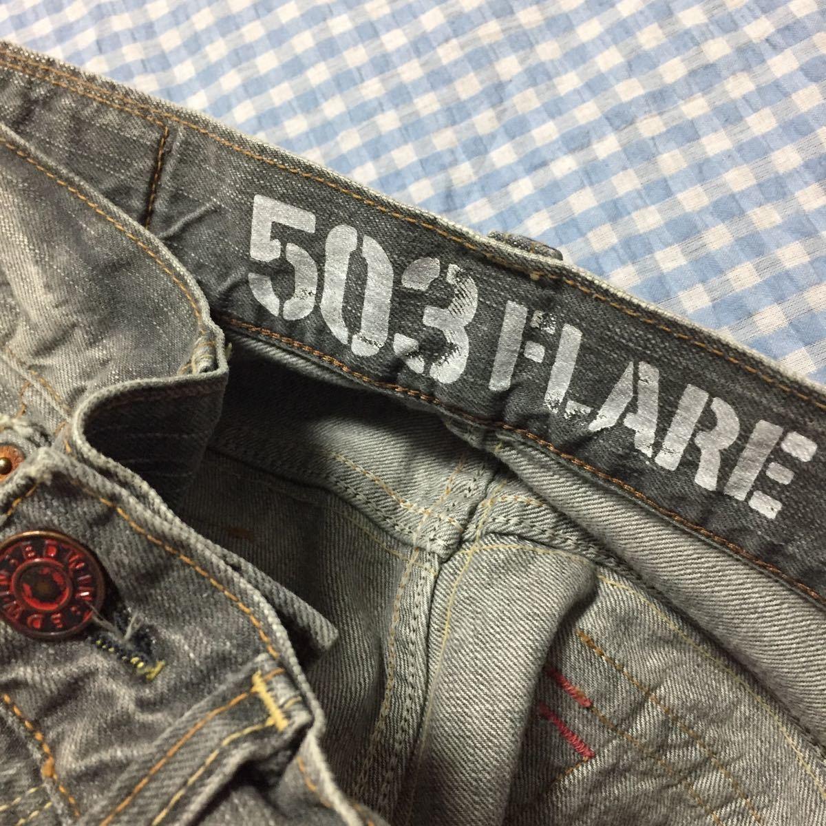 【美品】EDWINエドウィンBT5001ブーツカットBLUE TRIPブルートリップ30日本製グレー_画像9
