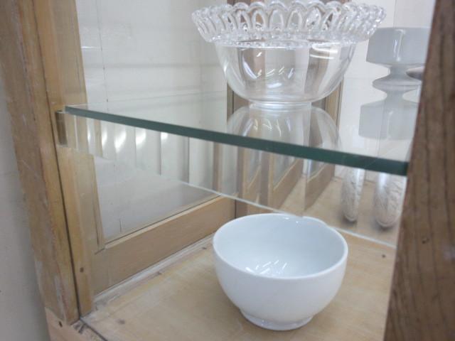 古い楢材モールガラスのパンケースH370  アンティークガラスケース店舗什器カフェ什器古家具無垢材_画像8