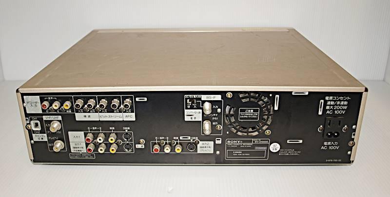 【W0077】 SONY  DV/S-VHS ダブルビデオデッキ WV-D10000 ジャンク_画像3