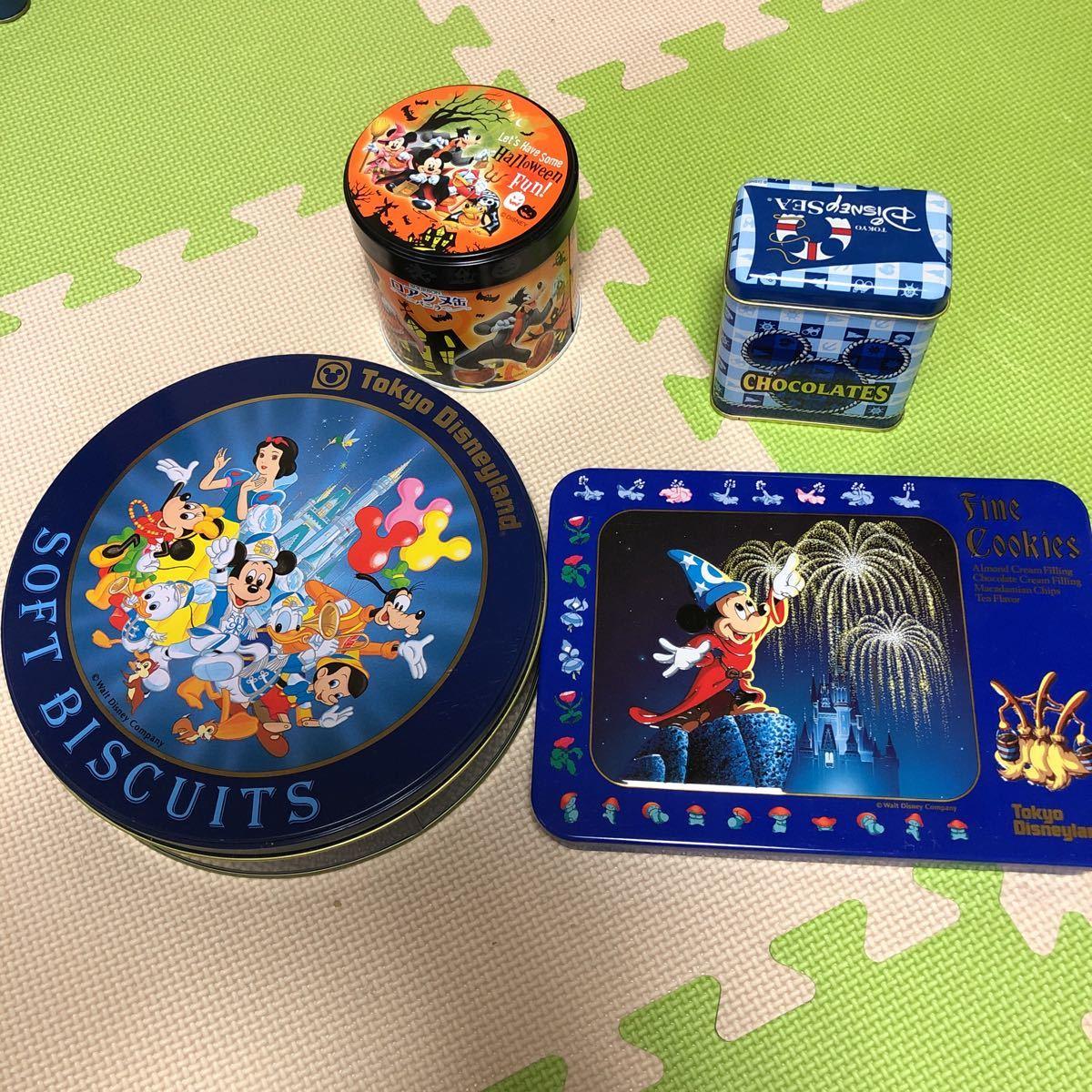 ディズニー★ディズニーリゾート お菓子缶3点&他お菓子缶1点_画像1