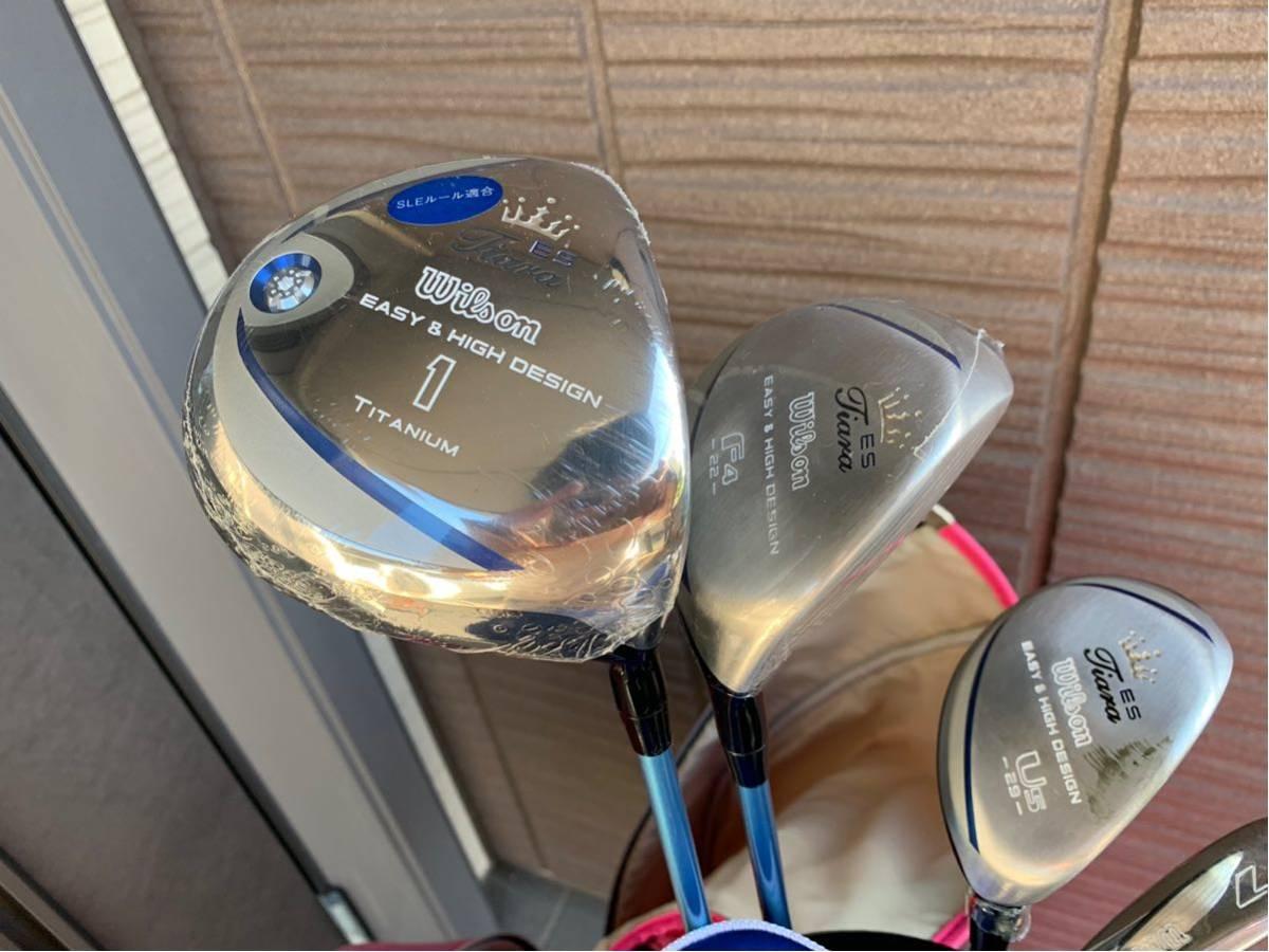 【美品】 ウィルソン レディース用ゴルフセット(ティアラ+ウィルソンベアー キャディバック)_画像2