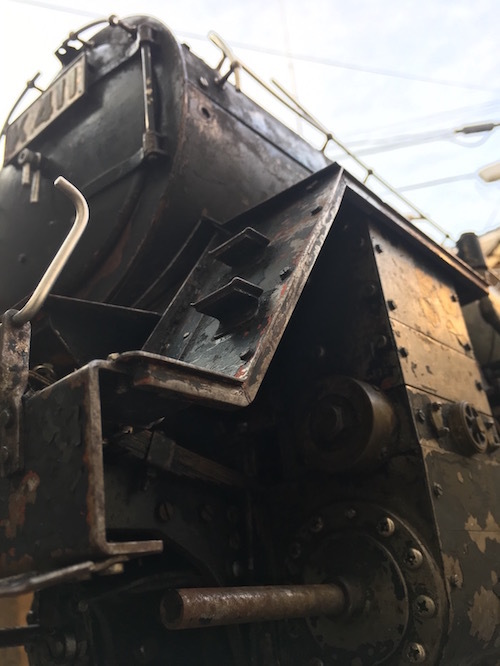 W80 ライブスチーム K 411 小栗車輌 製造 蒸気機関車 5インチゲージ 乗用 古鈴 芹香鉄道 台車付 機関車 SL ジャンク品_画像2