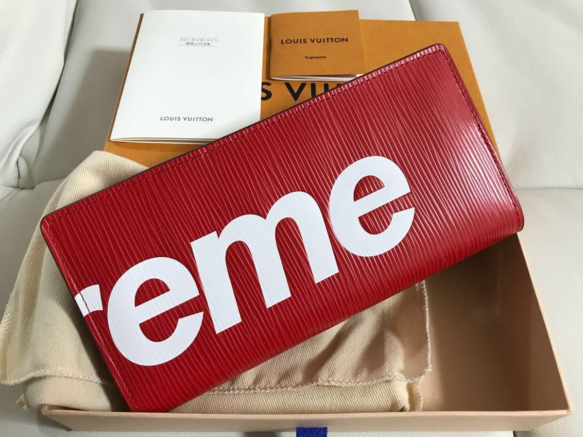 finest selection c6713 11022 Louis Vuitton×supreme 新品未使用 長財布 ヴィトン シュプリーム ポルトフォイユ 赤ブラザ ヴァージル アブロー