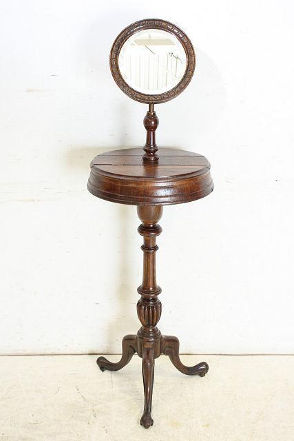 ミラー 鏡 アンティーク家具 an-4 1890年 イギリス製 アンティーク ビクトリアン オーク ジョージアンスタイル シェービングミラー_画像2