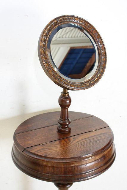 ミラー 鏡 アンティーク家具 an-4 1890年 イギリス製 アンティーク ビクトリアン オーク ジョージアンスタイル シェービングミラー_画像8