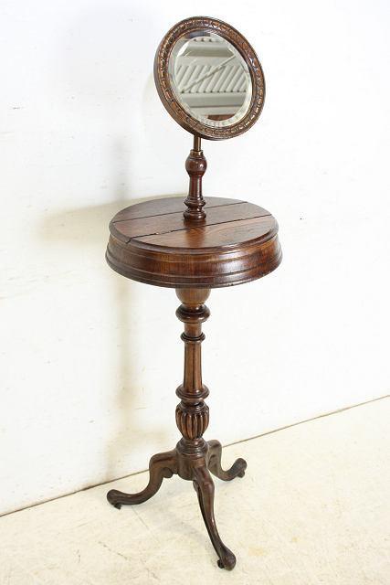 ミラー 鏡 アンティーク家具 an-4 1890年 イギリス製 アンティーク ビクトリアン オーク ジョージアンスタイル シェービングミラー_画像10