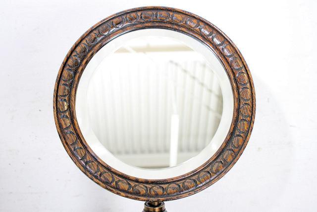 ミラー 鏡 アンティーク家具 an-4 1890年 イギリス製 アンティーク ビクトリアン オーク ジョージアンスタイル シェービングミラー_画像4