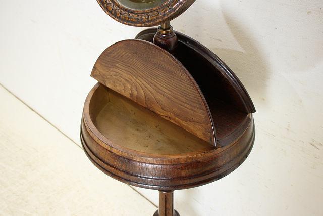 ミラー 鏡 アンティーク家具 an-4 1890年 イギリス製 アンティーク ビクトリアン オーク ジョージアンスタイル シェービングミラー_画像5