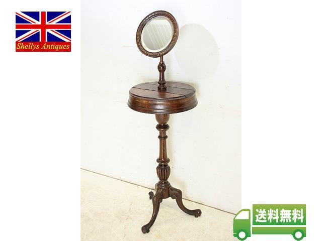 ミラー 鏡 アンティーク家具 an-4 1890年 イギリス製 アンティーク ビクトリアン オーク ジョージアンスタイル シェービングミラー_画像1