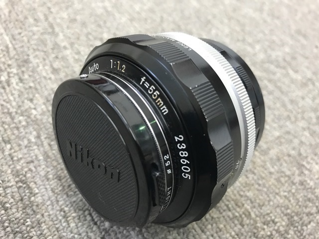 ジャンク 中古 Nikon/ニコン レンズ NIKKOR-S Auto 1:1.2 f=55mm