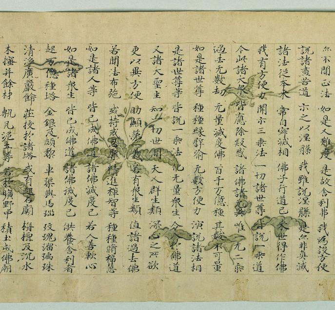 仏教 【法華経】 時代物 古写経 古美術品 _画像6