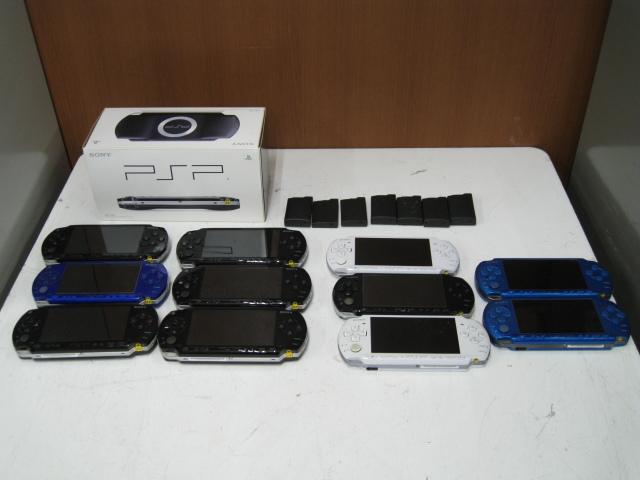 ★1円~SONY ソニー PSP 11台 まとめ売り PSP1000 PSP3000 バッテリーパック 箱など 大量セット ジャンク★