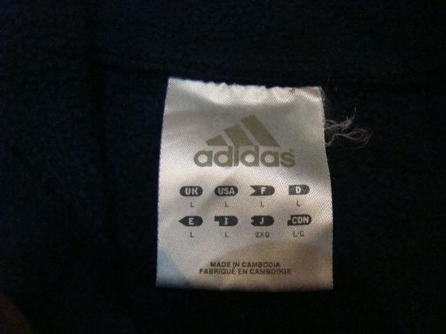 美品 adidas ロゴ 刺繍 スウェット パーカー プルオーバー L ネイビー アディダス フーディー_画像4