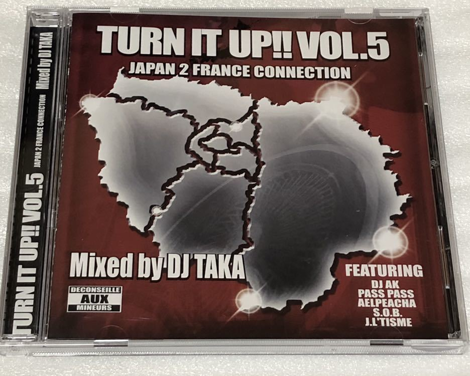 DJ TAKA TURN IT UP vol.5 JAPAN 2 FRANCE CONNECTION MIX CD 千葉 TALKBOX フランス_画像1