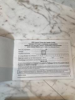 サバーバン 1999 車検証 マニュアル サービスマニュアル 説明書 シボレー GMC 中古 タホ C1500 K1500_画像5