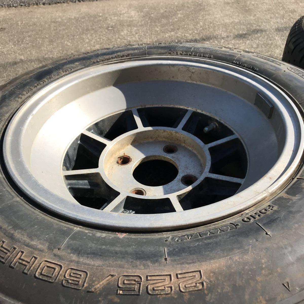 深リム 売り切り 希少 旧車 ハヤシレーシング ハヤシ ストリート すり鉢 14インチ 8J OFF-5 4H PCD114.3 2本 GX61 GX71 GZ10 130z 深リム_画像2