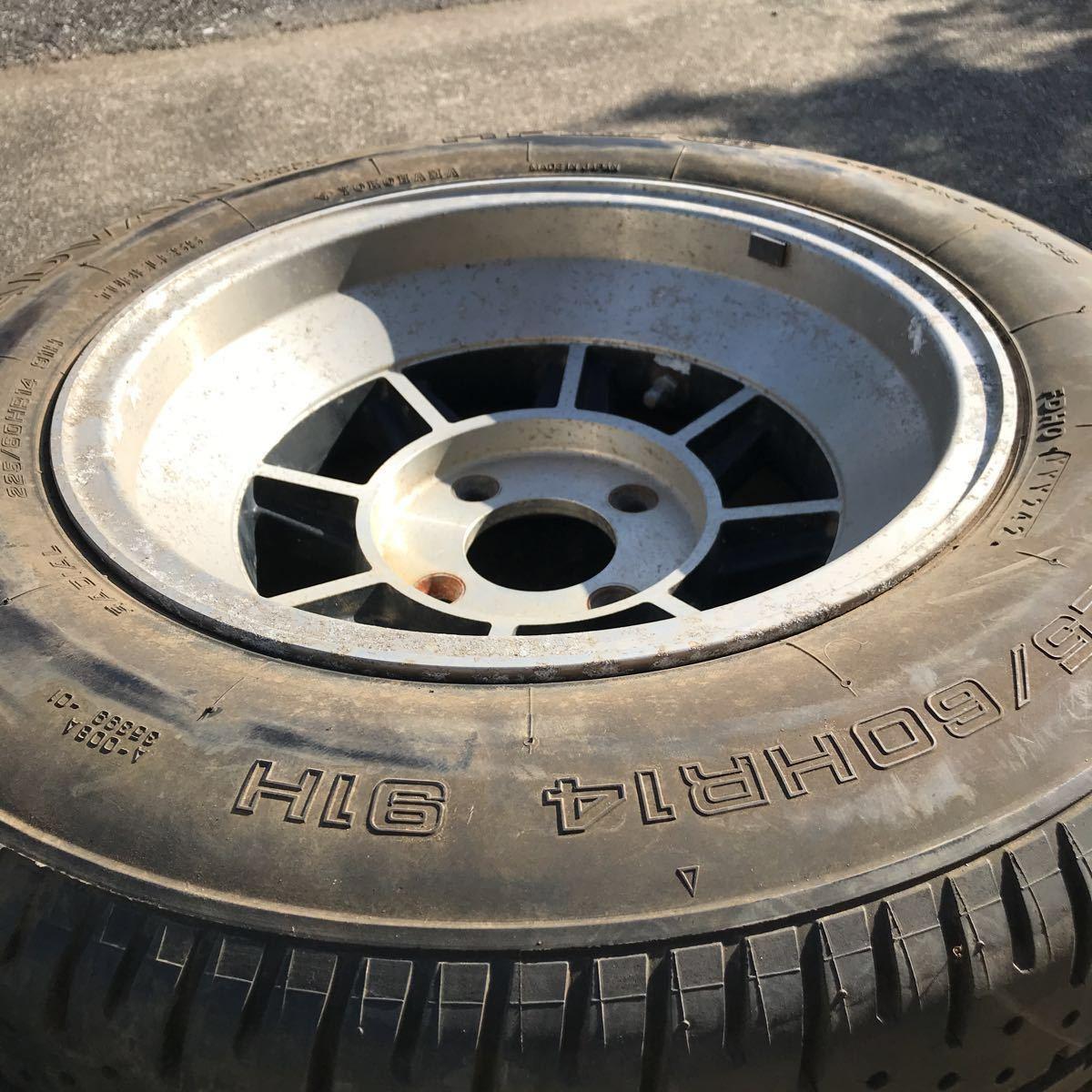 深リム 売り切り 希少 旧車 ハヤシレーシング ハヤシ ストリート すり鉢 14インチ 8J OFF-5 4H PCD114.3 2本 GX61 GX71 GZ10 130z 深リム_画像3
