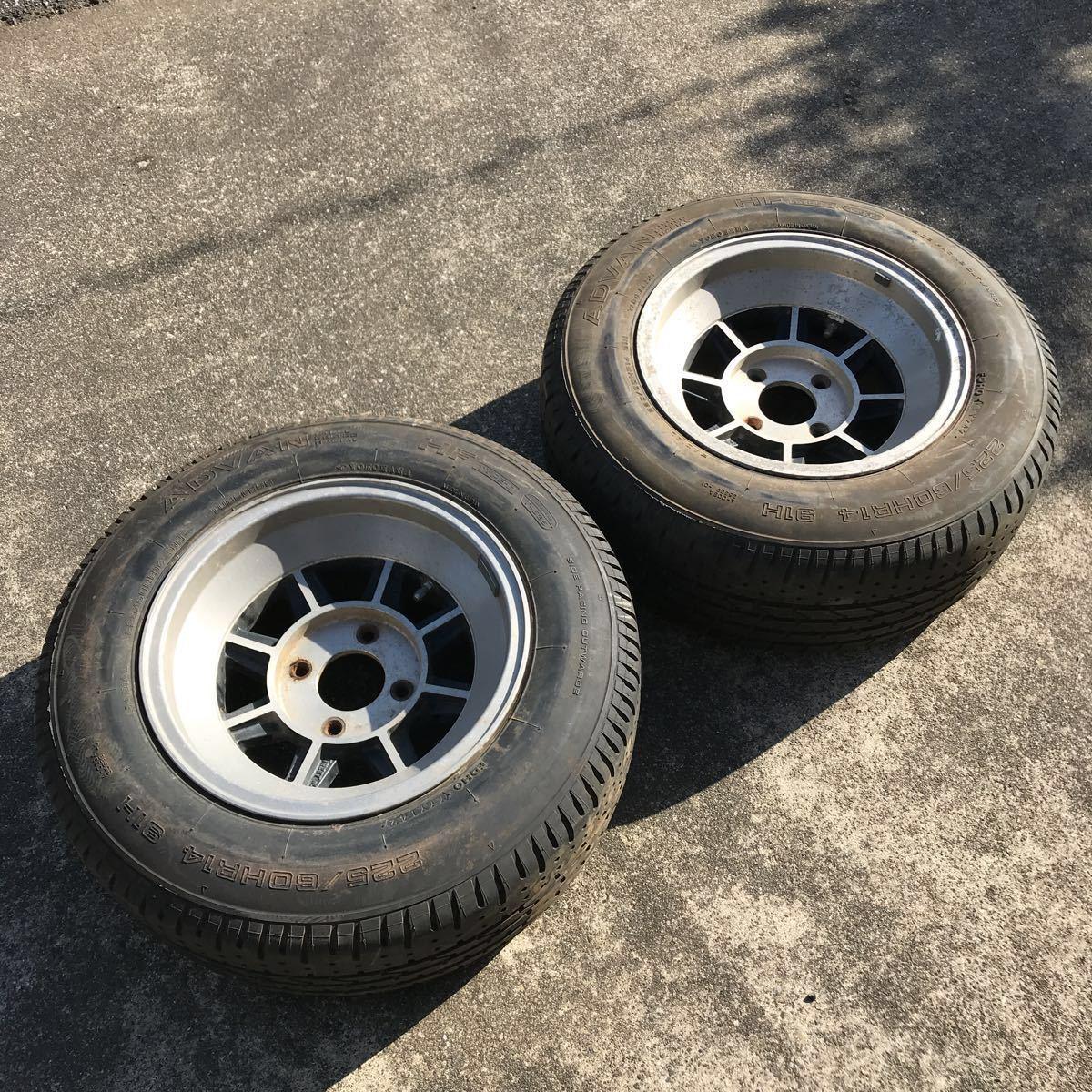 深リム 売り切り 希少 旧車 ハヤシレーシング ハヤシ ストリート すり鉢 14インチ 8J OFF-5 4H PCD114.3 2本 GX61 GX71 GZ10 130z 深リム
