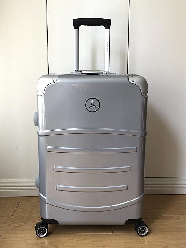 最高級※Mercedes-Benz ※アルミフレーム・軽量/静音・オリジナル・スーツケース/キャリーケース/機内持ち込可/24インチ/シルバー