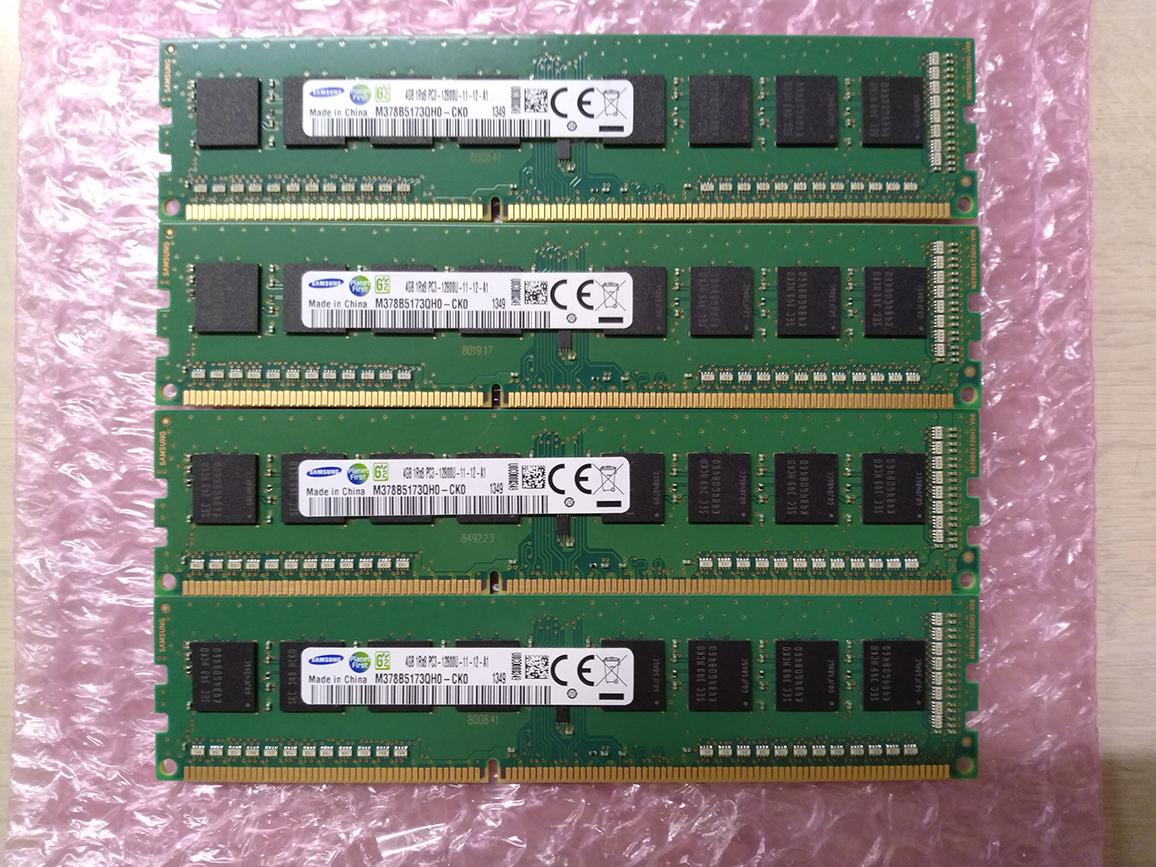 ☆ 完動品 SAMSUNGDIMM DDR3 PC3-12800U (DDR3-1600) 4GB×4枚 合計16GB 送料込☆