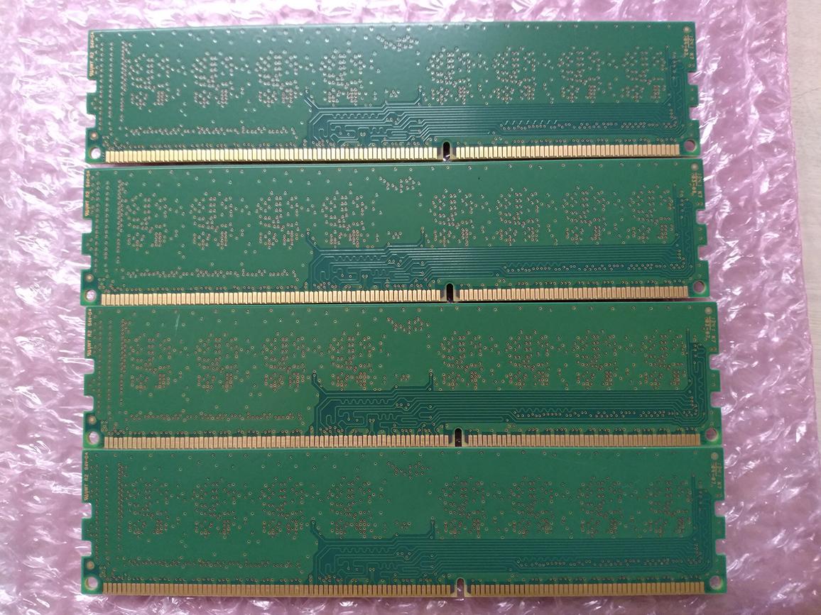 ☆ 完動品 SAMSUNGDIMM DDR3 PC3-12800U (DDR3-1600) 4GB×4枚 合計16GB 送料込☆_画像3
