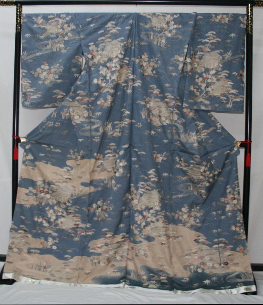 ◆高級手縫い仕立付◆ 横塚先生と将雪英◆汕頭手刺繍訪問着◆_画像1