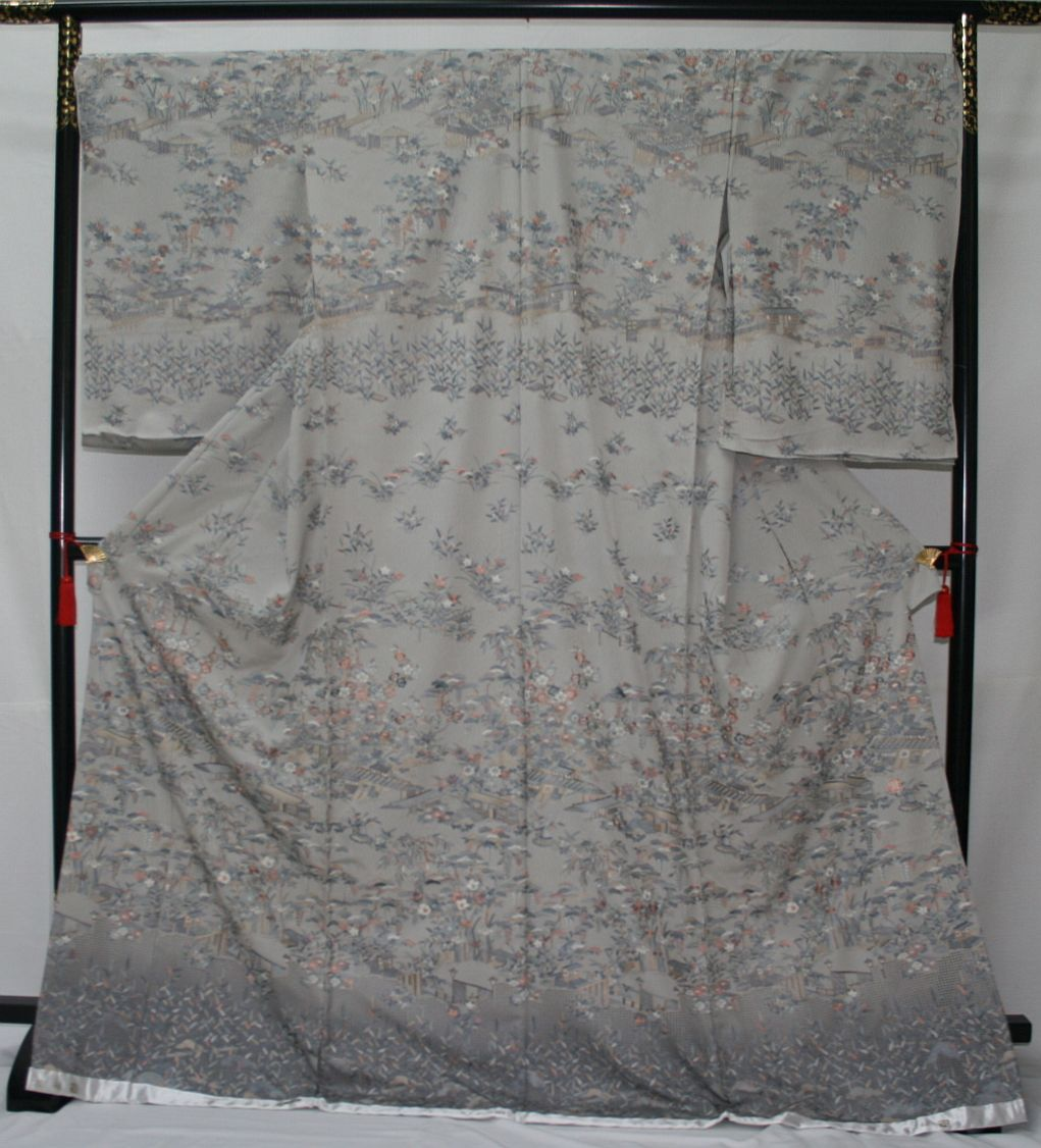 ◆高級手縫い仕立付◆伝統工芸士 横塚先生と将雪英◆汕頭手刺繍訪問着◆茶や辻_画像1