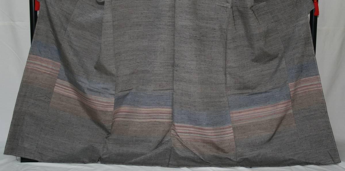 ◆高級お誂えお仕立付き◆特別民芸工芸品◆ぜんまい糸◆手織り真綿紬訪問着◆H051_画像2