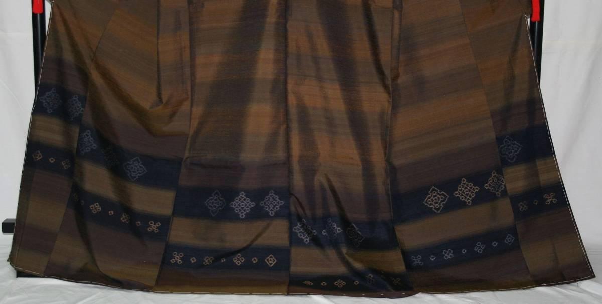 ◆高級お誂えお仕立付き◆特別伝統民芸工芸品◆手織り真綿紬訪問着◆H053_画像2