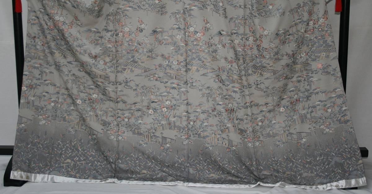 ◆高級手縫い仕立付◆伝統工芸士 横塚先生と将雪英◆汕頭手刺繍訪問着◆茶や辻_画像2
