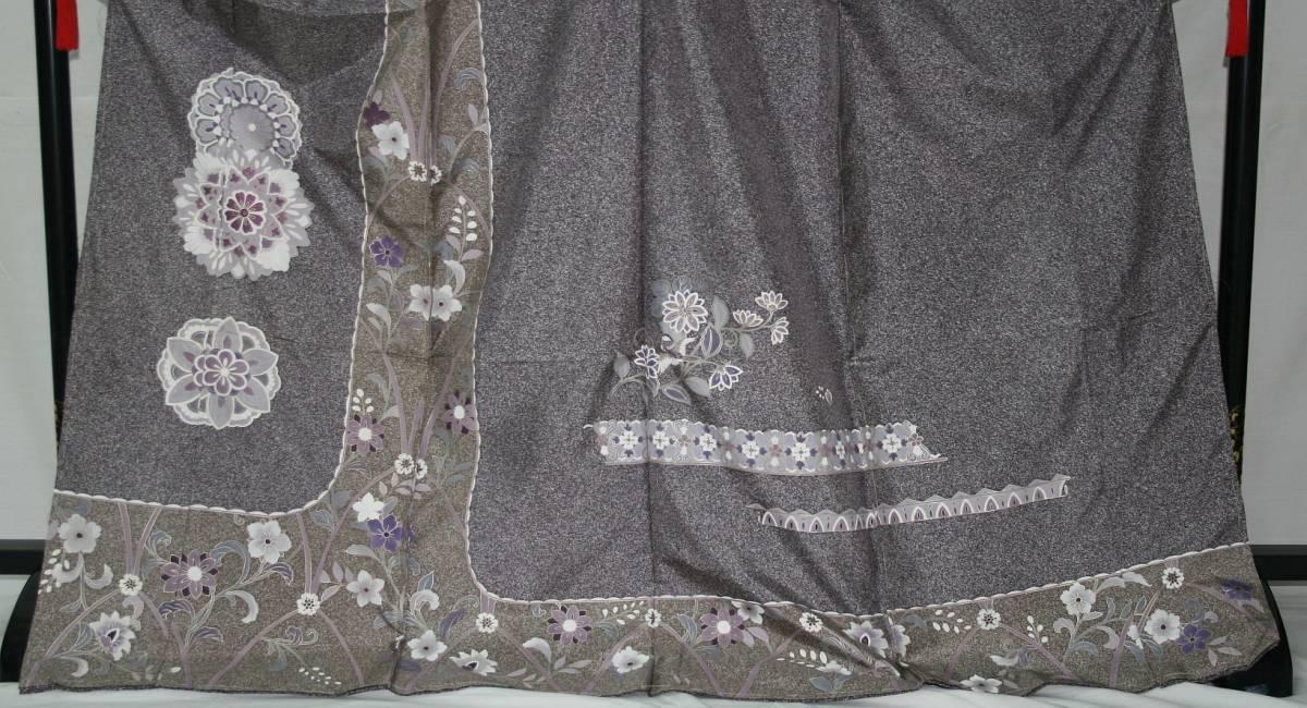 ◆高級お誂えお仕立付き◆幻の染 貝紫◆本場大島特別訪問着◆H067_画像2
