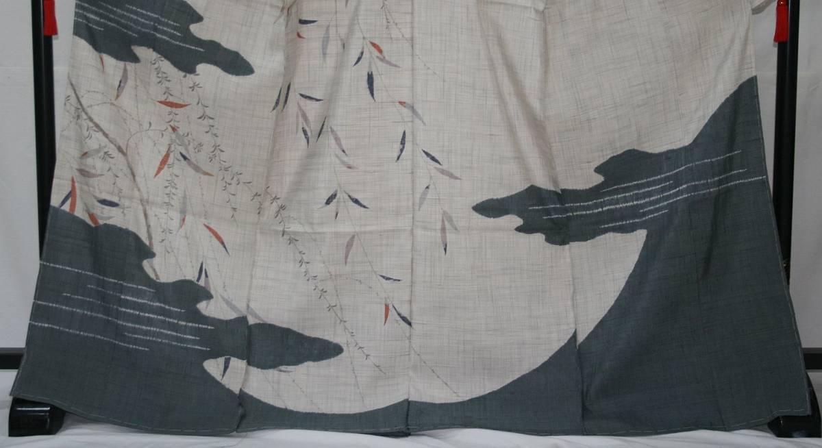 ◆高級お誂えお仕立付き◆特別民芸工芸品◆手織り生紬紬訪問着◆H056_画像2