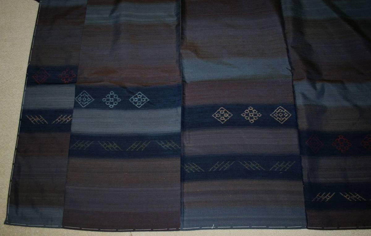 ◆高級お誂えお仕立付き◆特別民芸工芸品◆手織り真綿紬訪問着◆H054_画像5