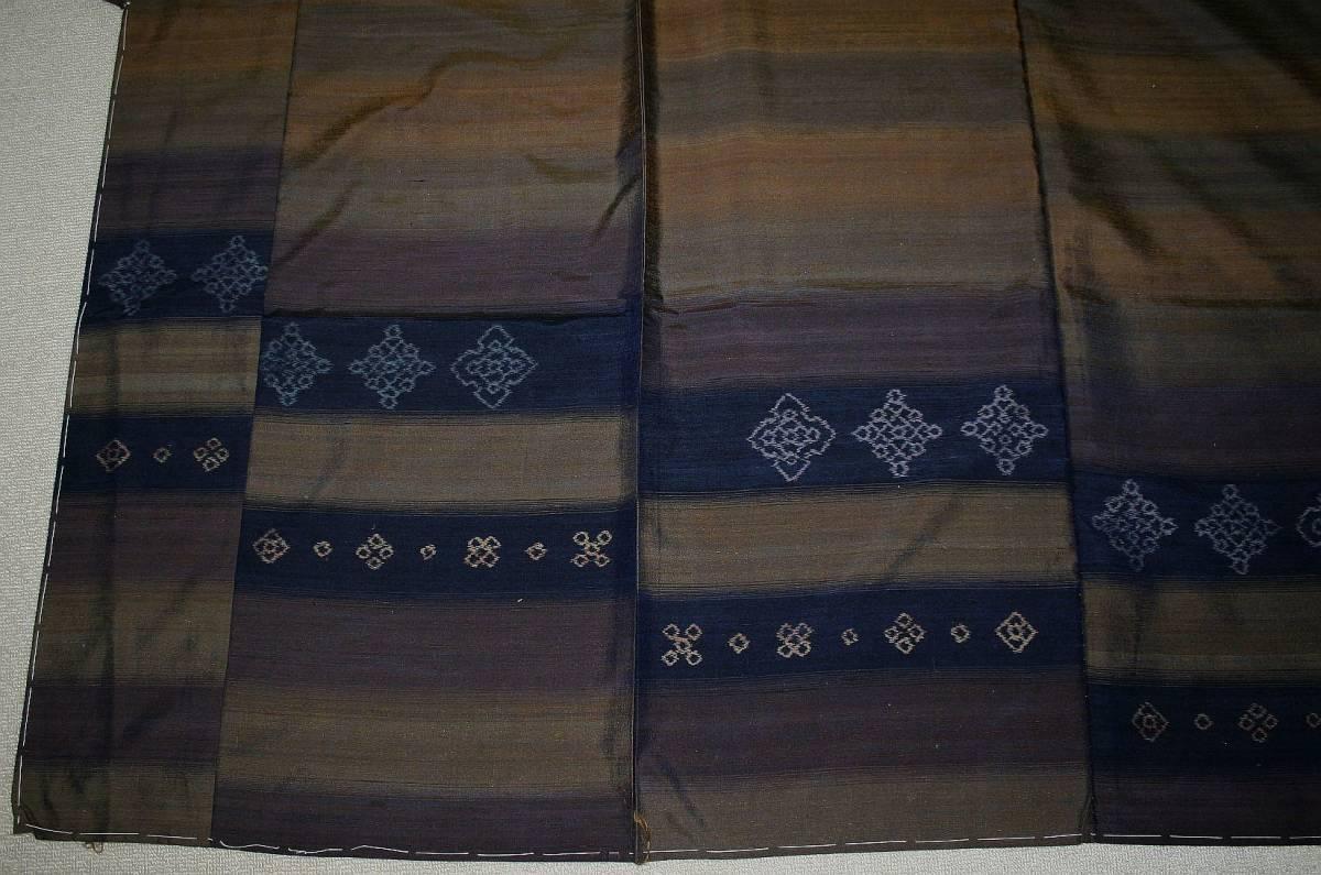 ◆高級お誂えお仕立付き◆特別伝統民芸工芸品◆手織り真綿紬訪問着◆H053_画像5