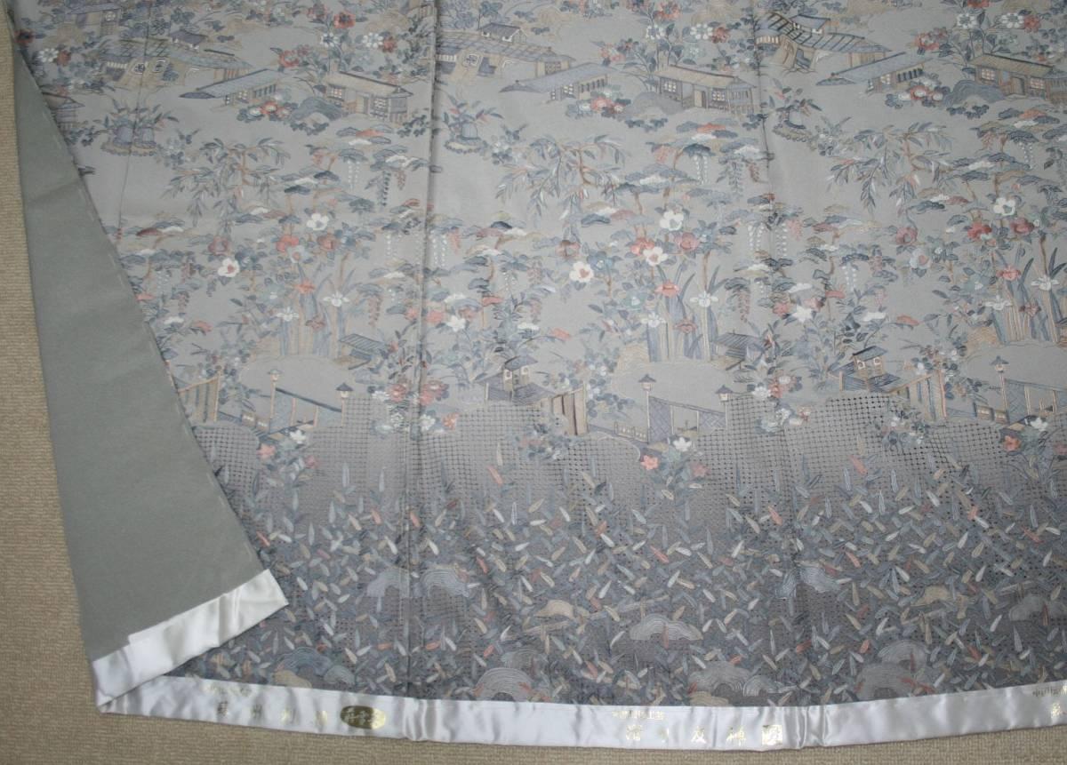 ◆高級手縫い仕立付◆伝統工芸士 横塚先生と将雪英◆汕頭手刺繍訪問着◆茶や辻_画像5