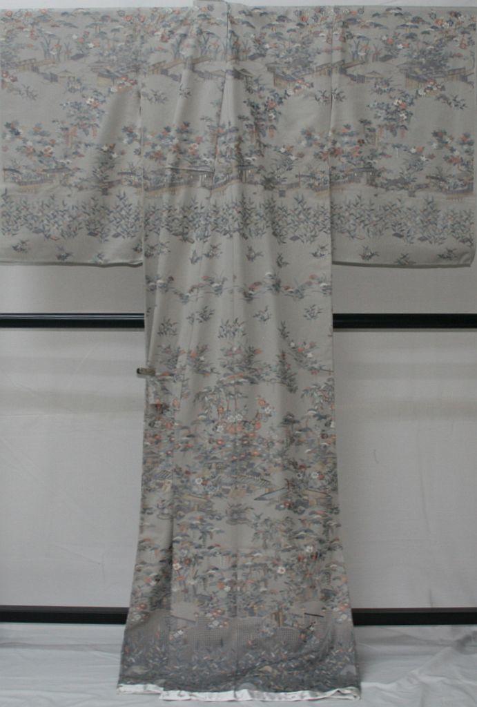 ◆高級手縫い仕立付◆伝統工芸士 横塚先生と将雪英◆汕頭手刺繍訪問着◆茶や辻_画像3