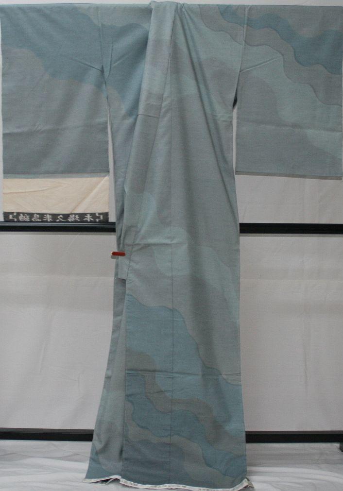 ◆高級お誂えお仕立付き◆特別民芸工芸品◆本場久米島紬訪問着◆H058_画像3