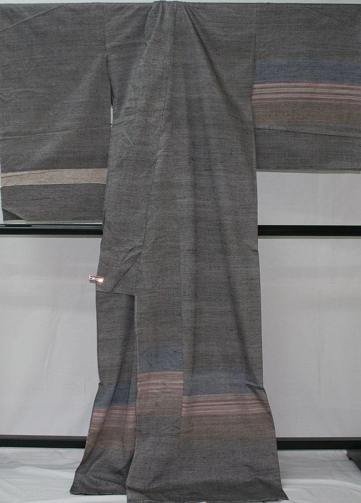 ◆高級お誂えお仕立付き◆特別民芸工芸品◆ぜんまい糸◆手織り真綿紬訪問着◆H051_画像3