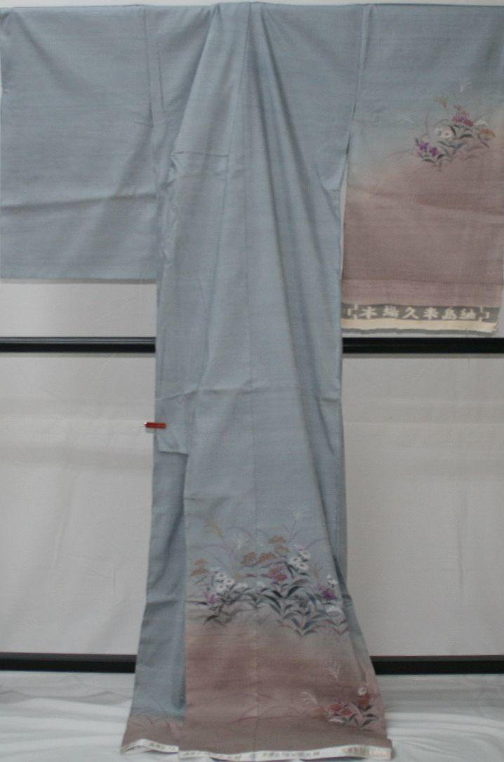 ◆高級お誂えお仕立付き◆特別民芸工芸品◆本場久米島紬訪問着◆H057_画像4