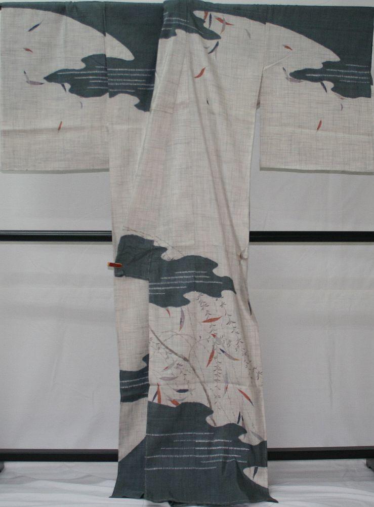 ◆高級お誂えお仕立付き◆特別民芸工芸品◆手織り生紬紬訪問着◆H056_画像3
