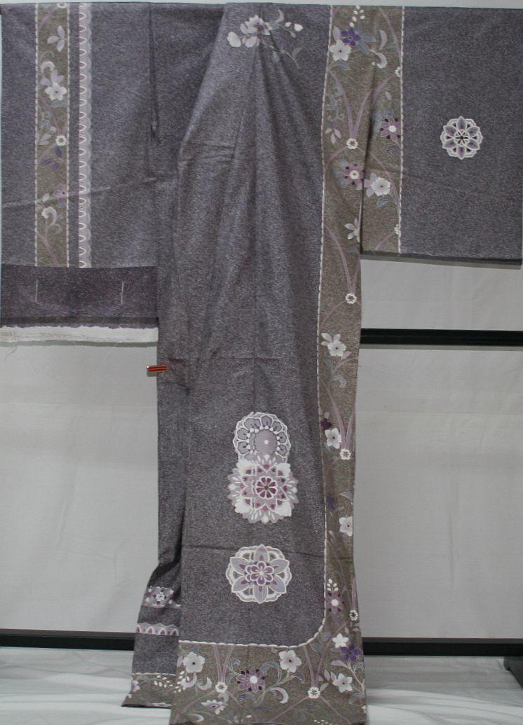◆高級お誂えお仕立付き◆幻の染 貝紫◆本場大島特別訪問着◆H067_画像4
