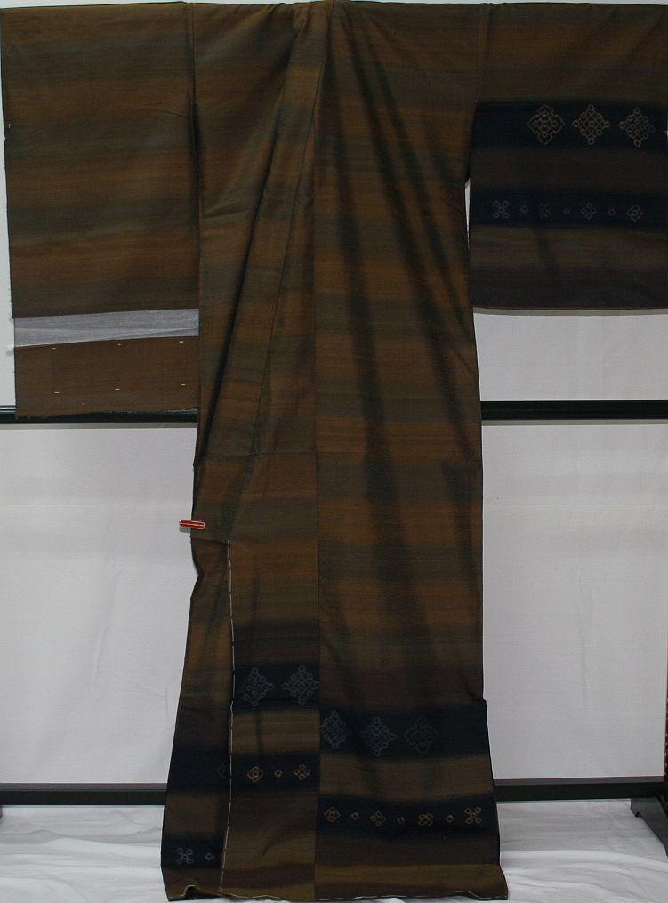 ◆高級お誂えお仕立付き◆特別伝統民芸工芸品◆手織り真綿紬訪問着◆H053_画像4