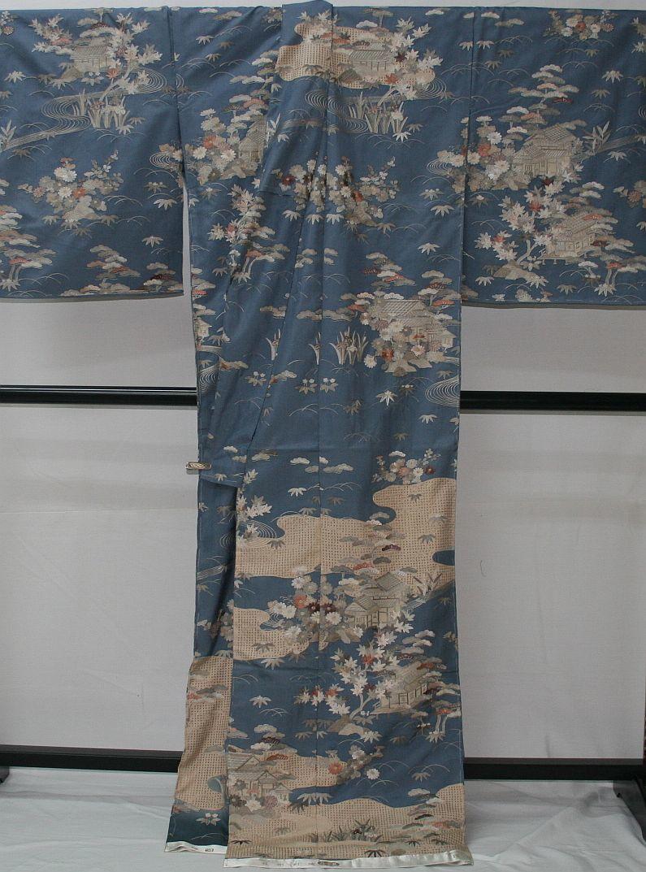 ◆高級手縫い仕立付◆ 横塚先生と将雪英◆汕頭手刺繍訪問着◆_画像3