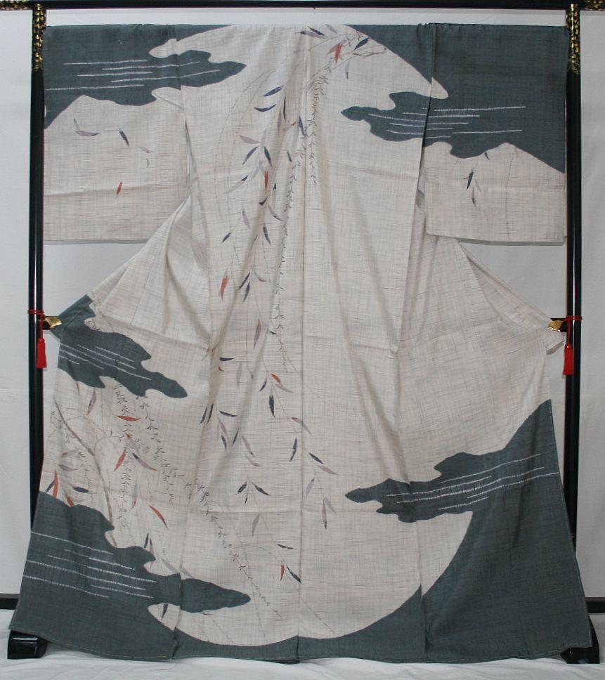 ◆高級お誂えお仕立付き◆特別民芸工芸品◆手織り生紬紬訪問着◆H056_画像1