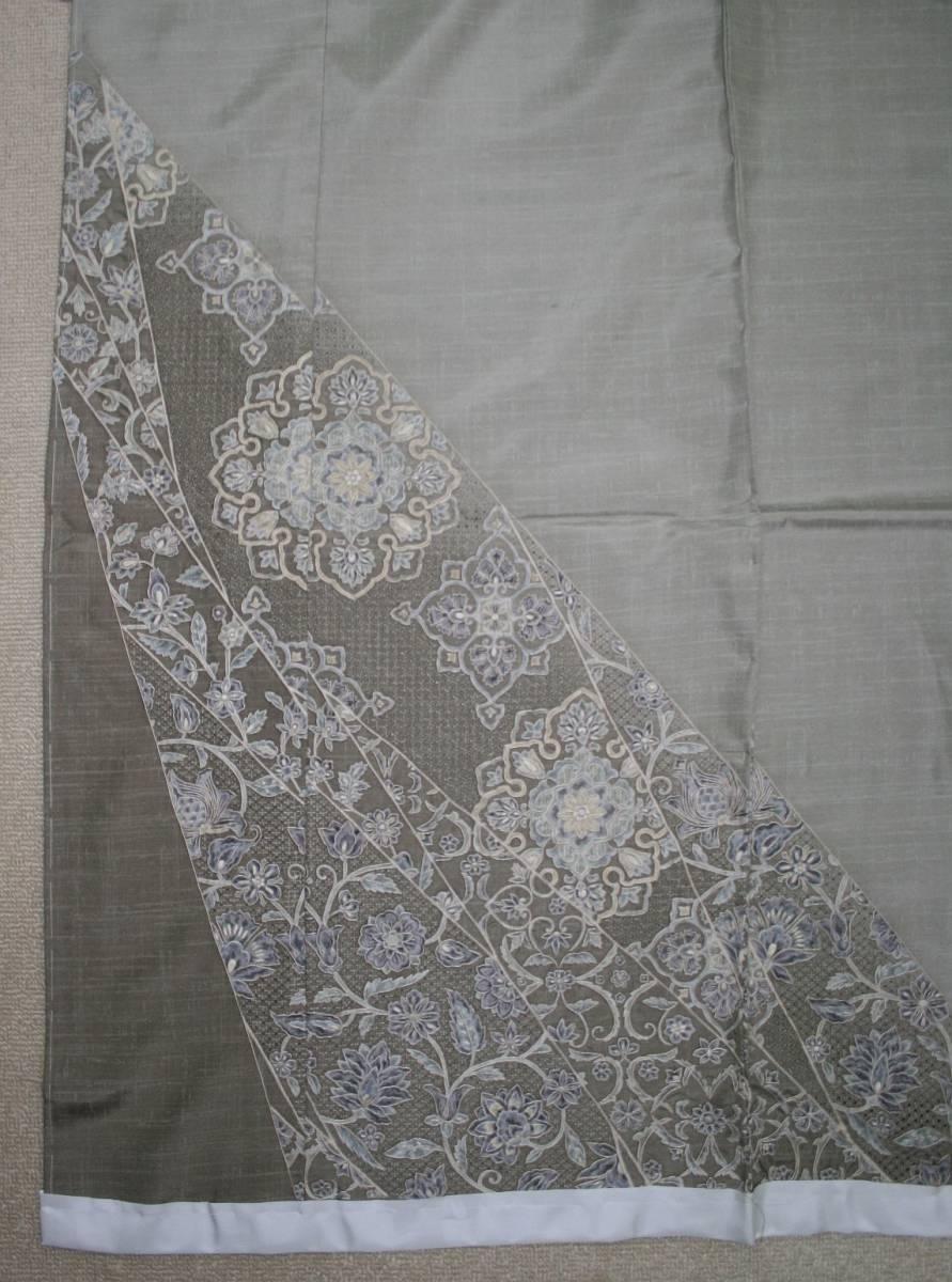 ◆高級お誂えお仕立付き◆ 横塚賢治◆特別手刺繍紬訪問着◆H046_画像4