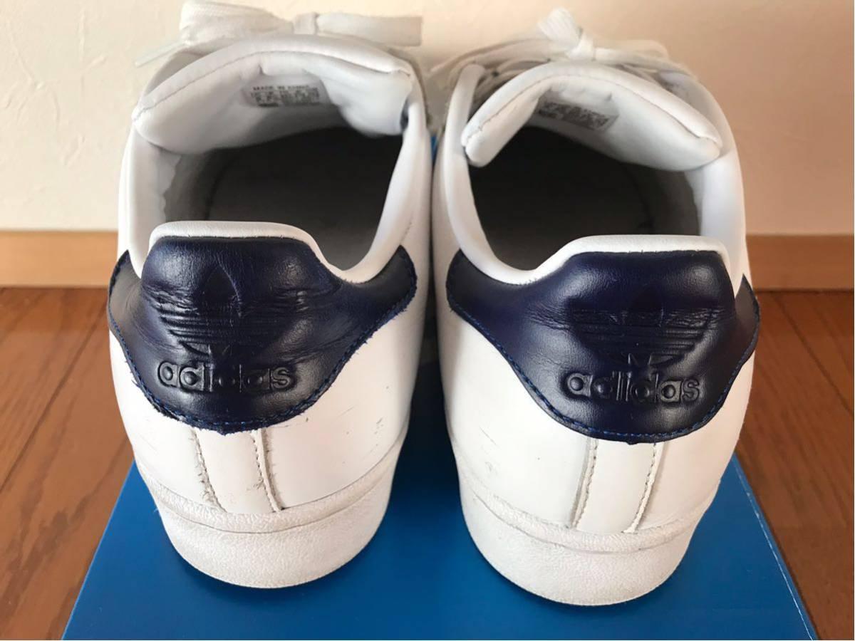 adidas★SUPERSTARホワイト×ネイビー_画像3