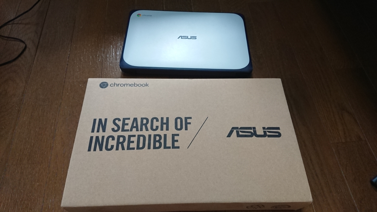 ASUS Chromebook c202S プレイストア対応