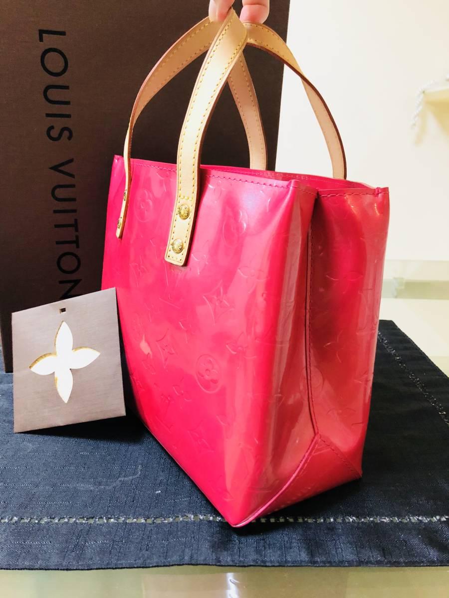 ◆ 新品 未使用 ◆箱付き! ルイヴィトン LOUIS VUITTON ヴェルニ ライン リードPM ピンク バッグ_画像2